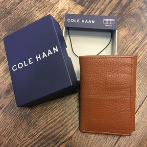 NWT Cole Haan Brown Leather Wallet
